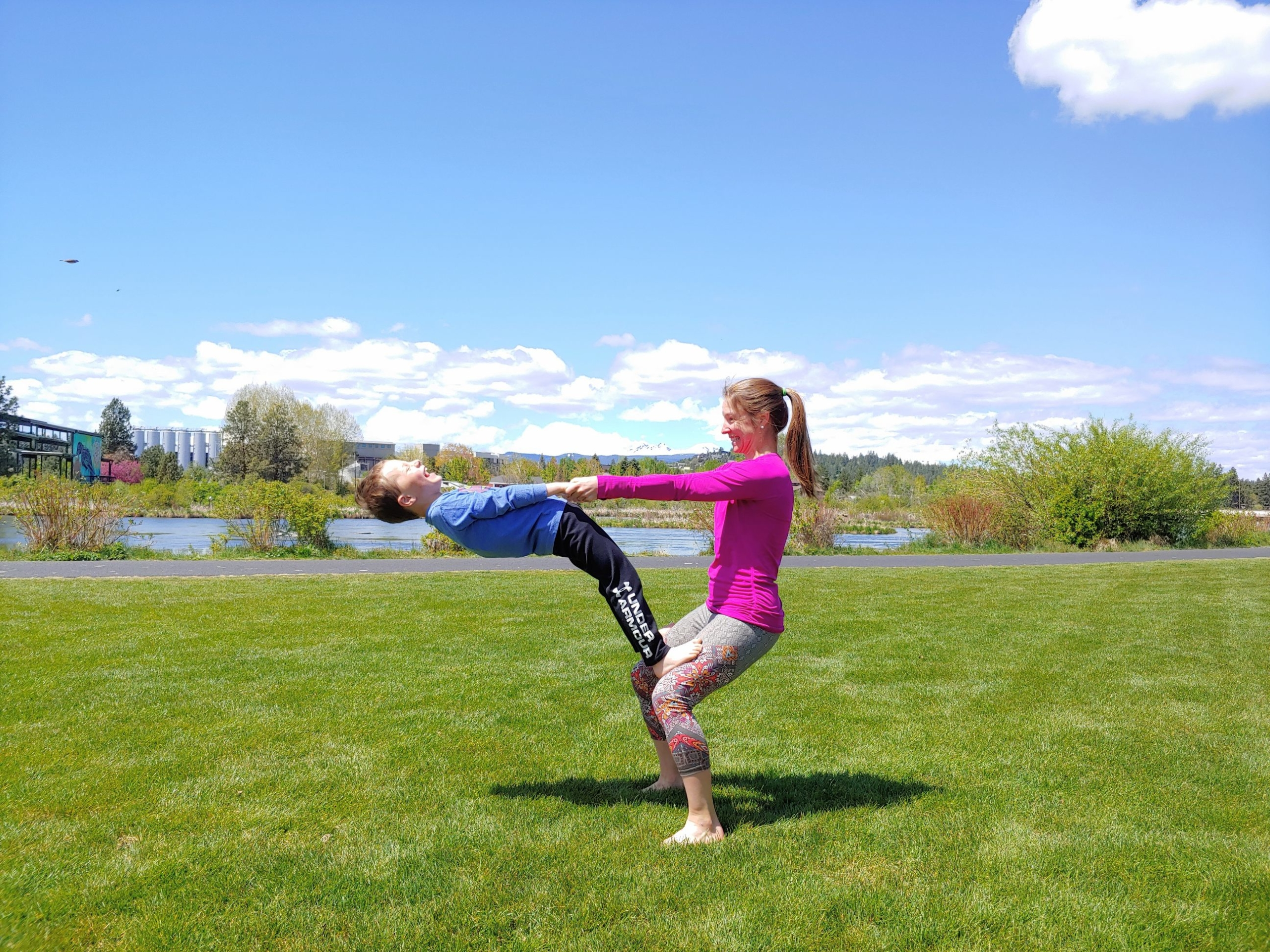 Outdoor Family Yoga Event Old Mill District
